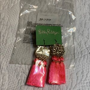 Lilly Pulitzer tassel earrings. NWT